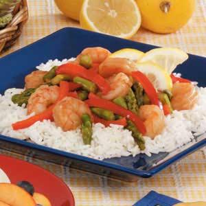 Lemony Shrimp 'n' Asparagus Recipe