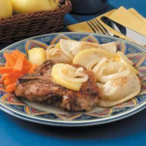 Pork Chops 'n' Pierogies Recipe