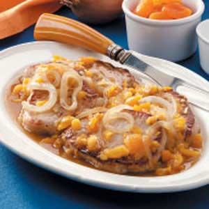 Onion-Apricot Pork Chops Recipe