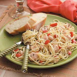 Tuscan Salmon Pasta Recipe