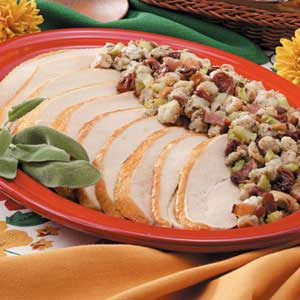 Turkey with Bacon Cherry Stuffing Recipe