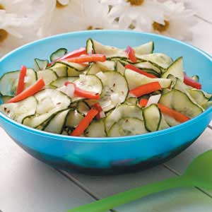Sweet and Tangy Cucumber Salad Recipe