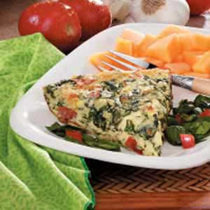 Blue Cheese Spinach Frittata Recipe