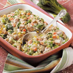 Veggie Turkey Casserole Recipe