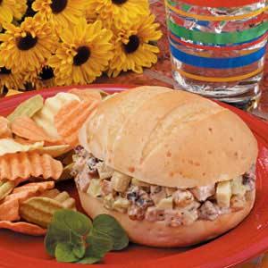 Waldorf Turkey Salad Sandwiches Recipe