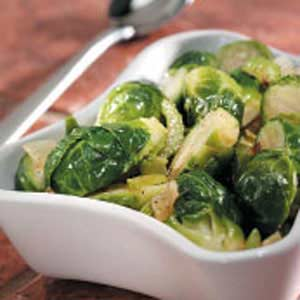 Brussels Sprouts with Green Peppers Recipe