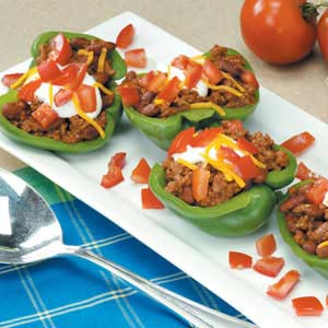 Taco-Stuffed Pepper Cups
