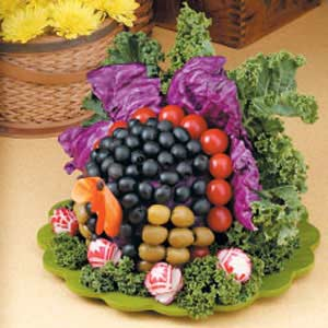Veggie Turkey Centerpiece Recipe