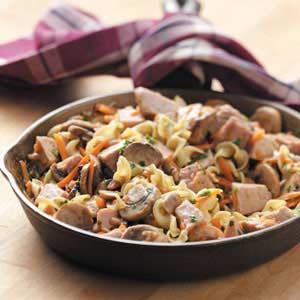 Pork Noodle Skillet Recipe