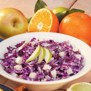 Red Cabbage Apple Slaw Recipe