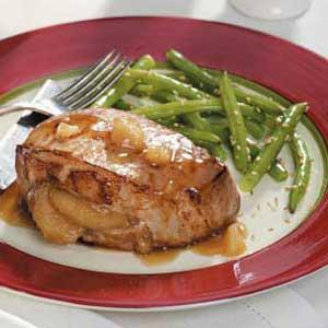 Ginger-Apple Pork Chops Recipe