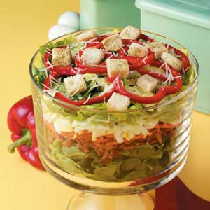 Pretty Layered Salad Recipe