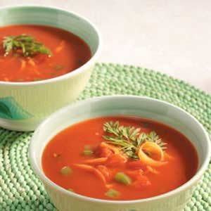 Chunky Vegetable Chilled Soup Recipe