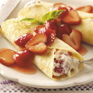 Strawberry Mascarpone Crepes Recipe