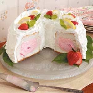 Strawberry Tunnel Cake Recipe
