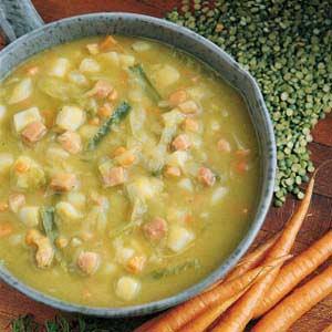 Split Pea Vegetable Soup Recipe