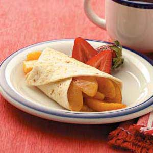 Cinnamon Peach Enchiladas Recipe