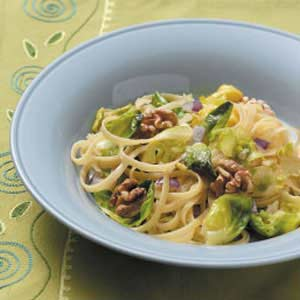 Fettuccine with Brussels Sprouts Recipe