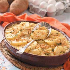 Creamed Potato Casseroles Recipe