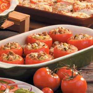 Tomatoes with Herb Stuffing Recipe