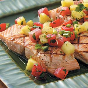 Salmon with Fruit Salsa Recipe