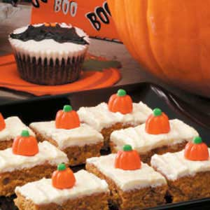 Peter peter pumpkin bars recipe taste of home peter peter pumpkin bars recipe aloadofball Gallery