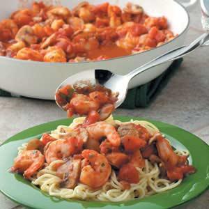 Tomato 'n' Shrimp Pasta Recipe