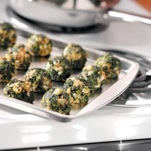 Makeover Garlic Spinach Balls Recipe