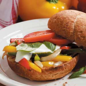 Sweet Pepper Sandwiches Recipe