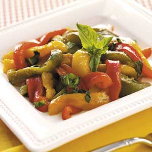 Roasted Peppers with Basil Recipe