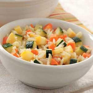 Rice with Summer Squash Recipe