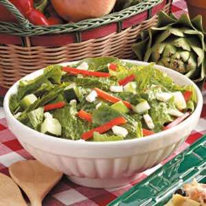 Greek Romaine Salad Recipe