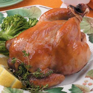 Apple-Glazed Cornish Hens Recipe