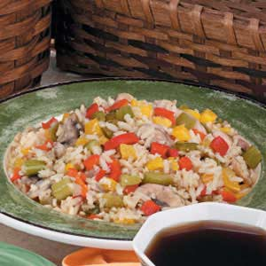 Peppered Brown Rice Recipe