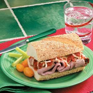 Mozzarella Beef Sandwiches Recipe