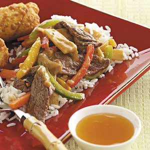 Beef Stir-Fry with Peanut Sauce