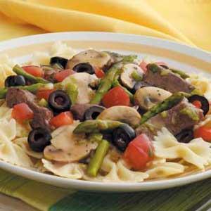 Beef 'n' Asparagus Pasta Recipe