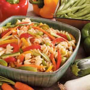 Stir-Fried Veggies with Pasta Recipe