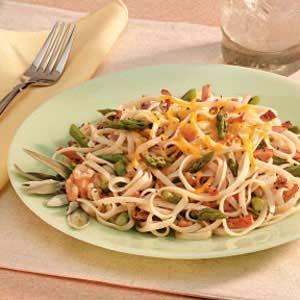 Asparagus Ham Fettuccine Recipe