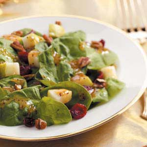 Cranberry Pear Spinach Salad Recipe