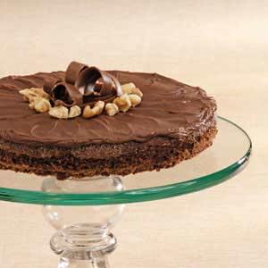Frosted Walnut Brownie Pie Recipe