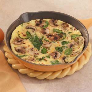 Mushroom Spinach Omelet Recipe