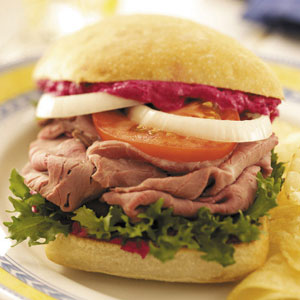 Beef Sandwiches with Beet Spread Recipe