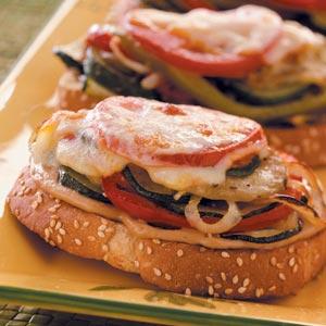 Open-Faced Garden Veggie Sandwiches Recipe