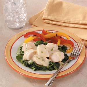 Scallops Florentine Recipe