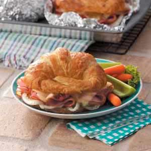 Baked Ham 'n' Cheese Croissants Recipe