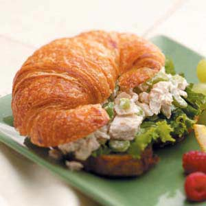 Turkey Salad on Croissants Recipe