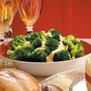 Broccoli with Cheese Sauce Recipe