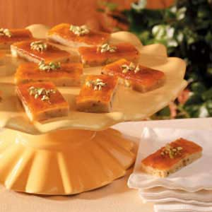 Pistachio Apricot Bars Recipe