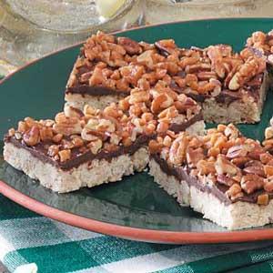 Chocolate-Oat Toffee Bars Recipe